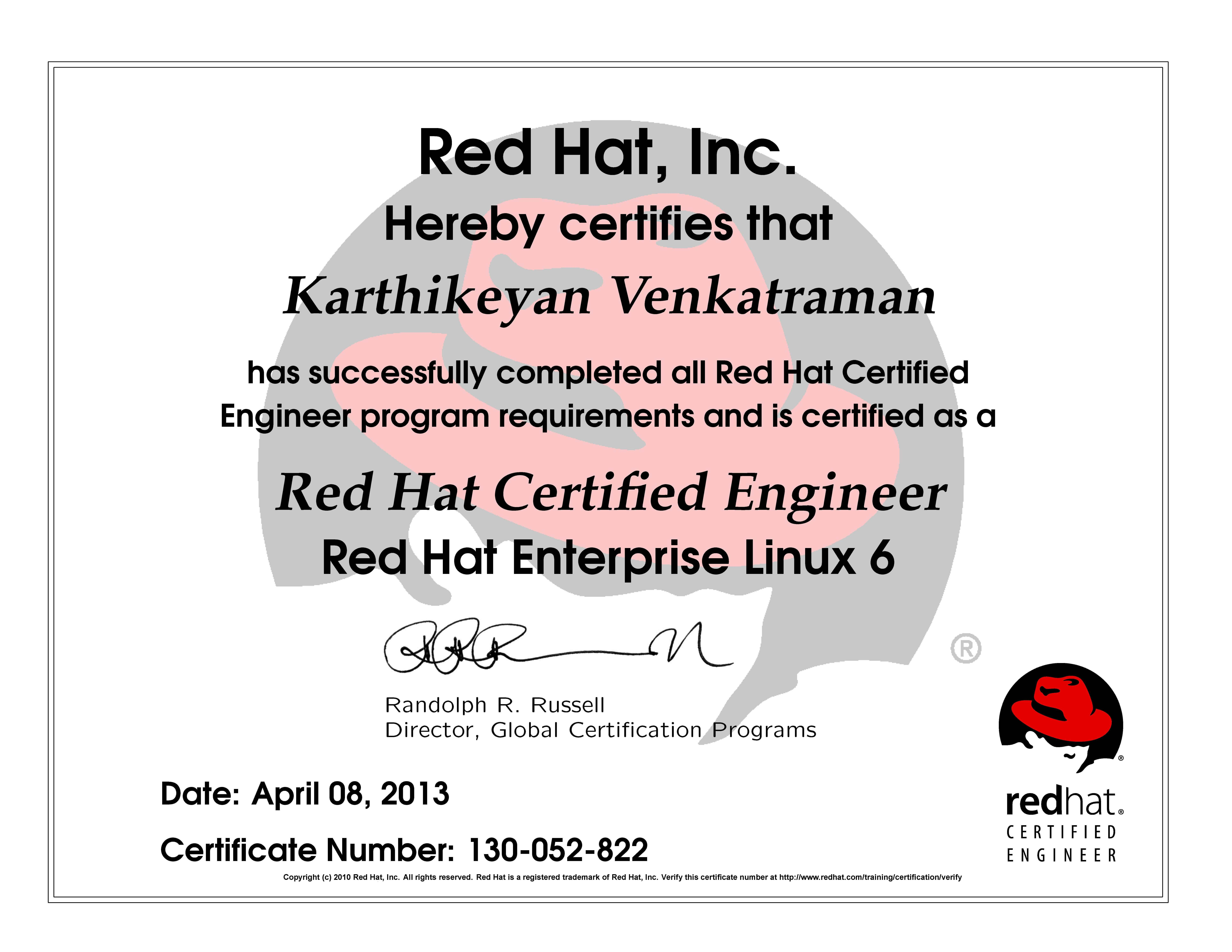 Redhat Certifications My Blog